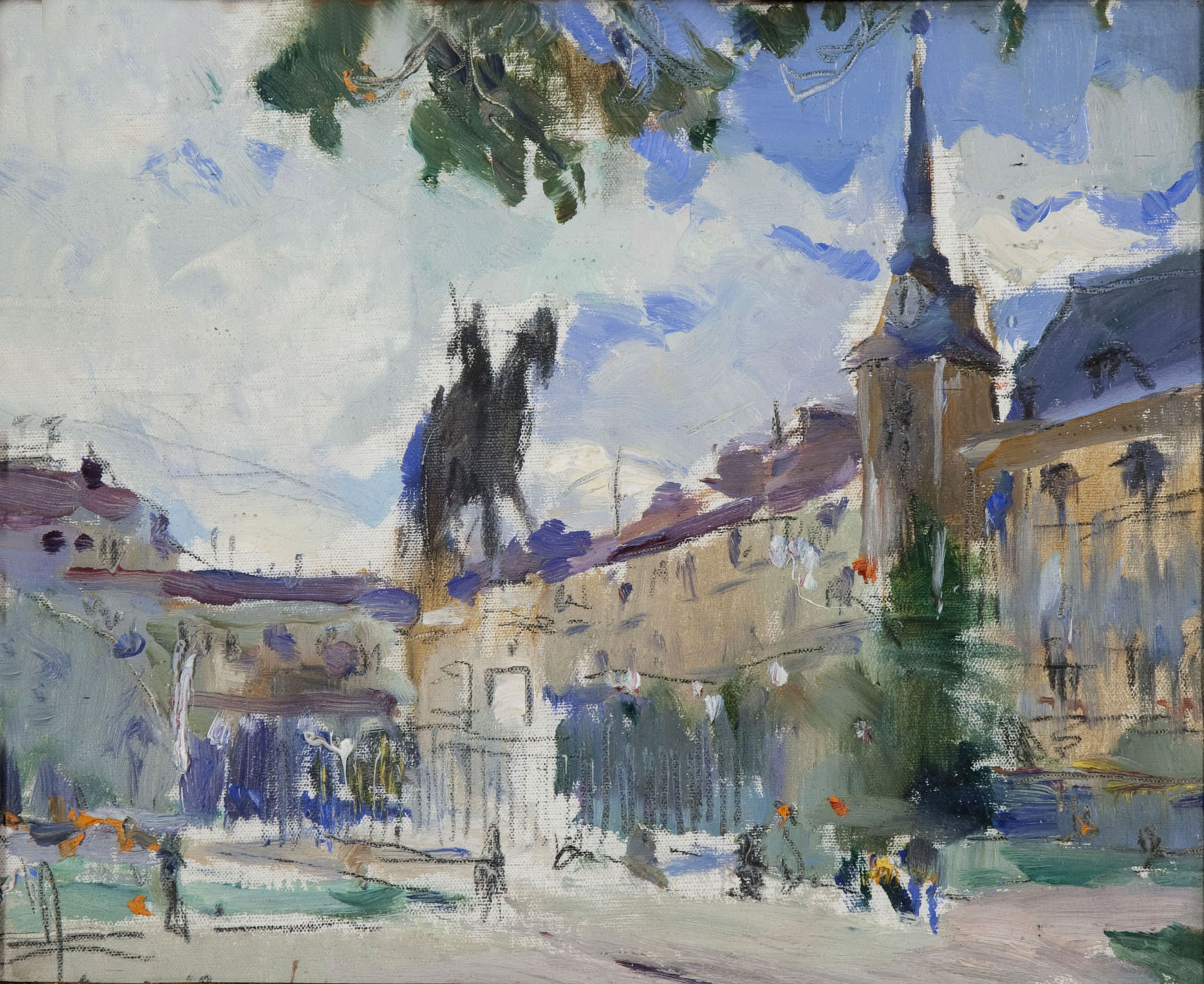 Joaquim Mir - Vista de la «Plaza Mayor» de Madrid - Madrid, 1926