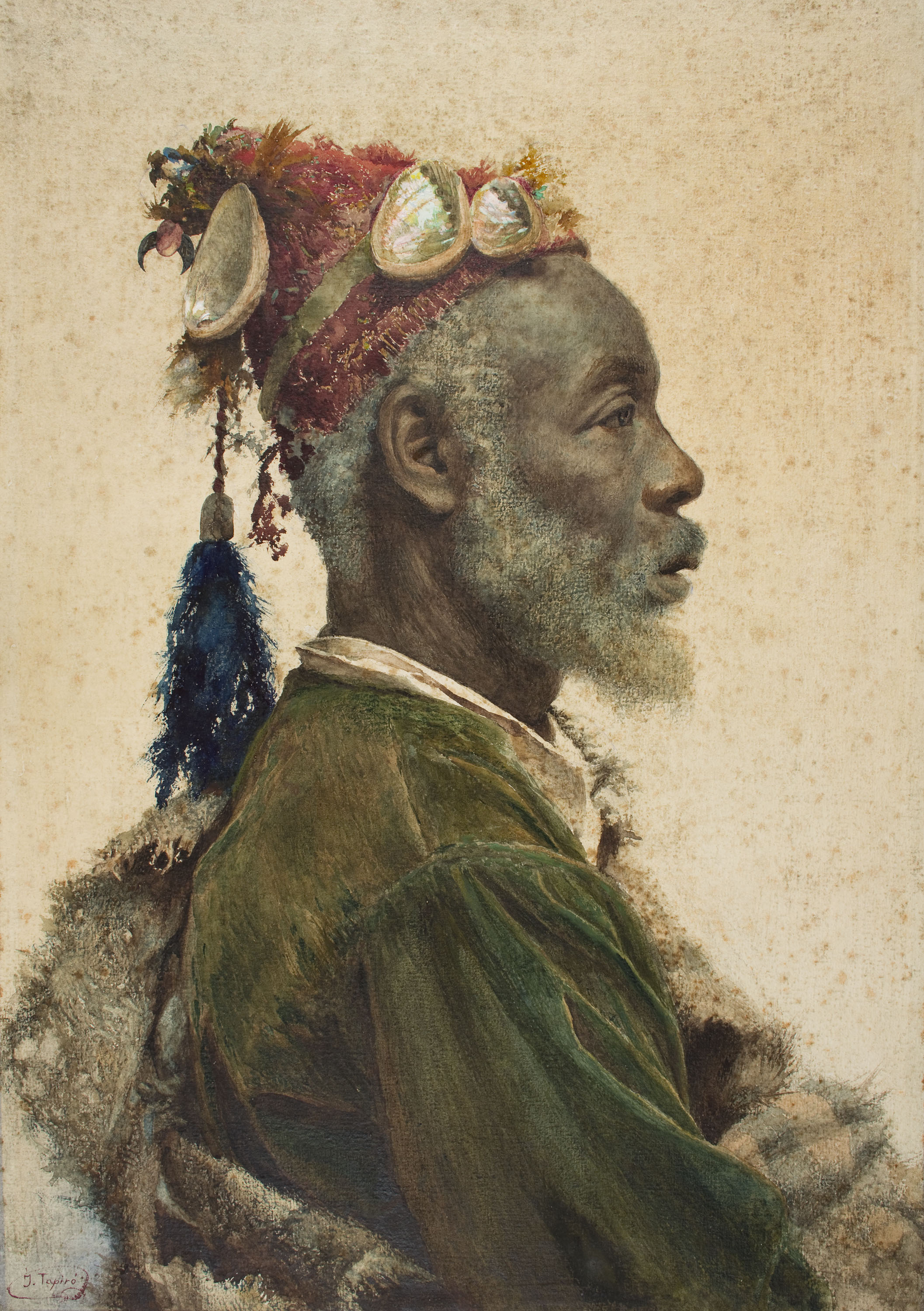 Josep Tapiró - The Darcawi Holy Man from Marrakesh - Circa 1890-1900