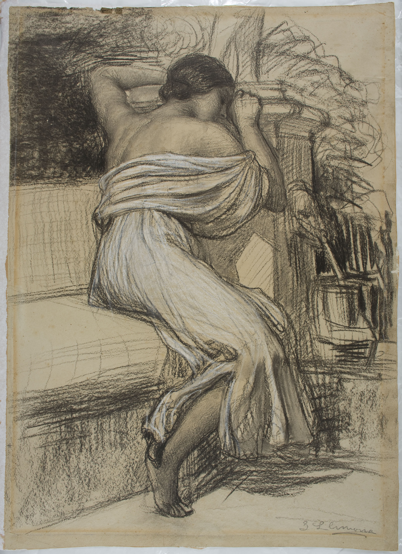 Joan Llimona - Study for the picture «Conversion» - Circa 1919