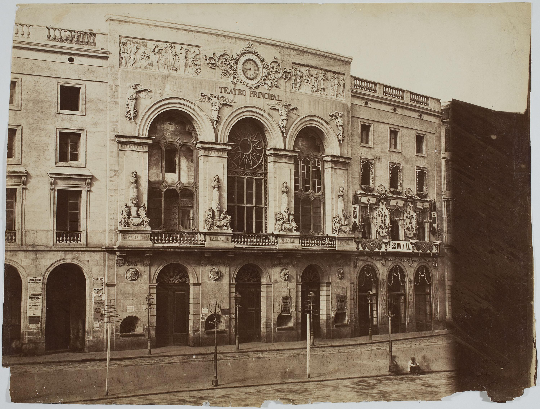 Charles Clifford - Teatro del Liceo y Casino (Barcelona) [Teatro Principal]  - 1860