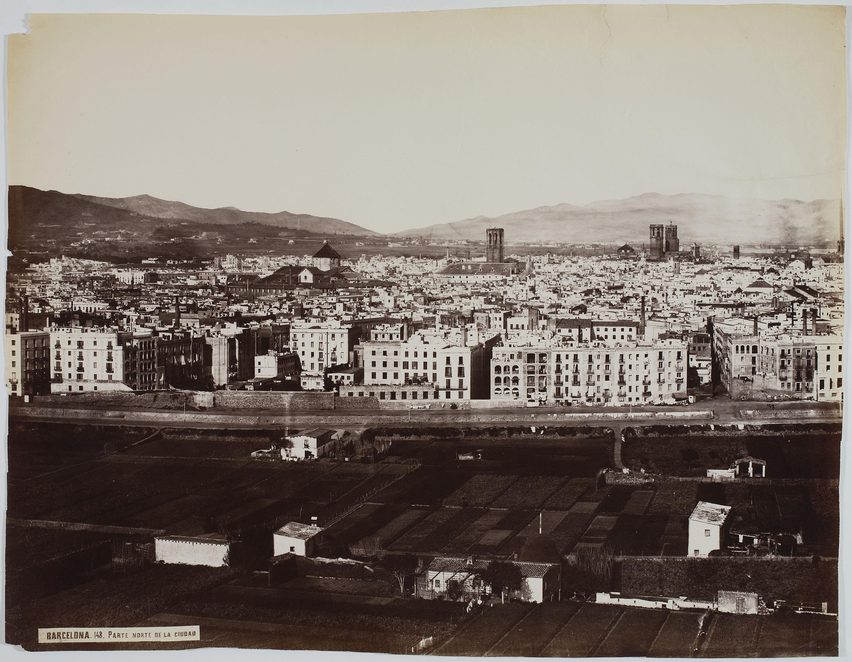 Charles Clifford - Parte norte de la ciudad (Barcelona) - 1860