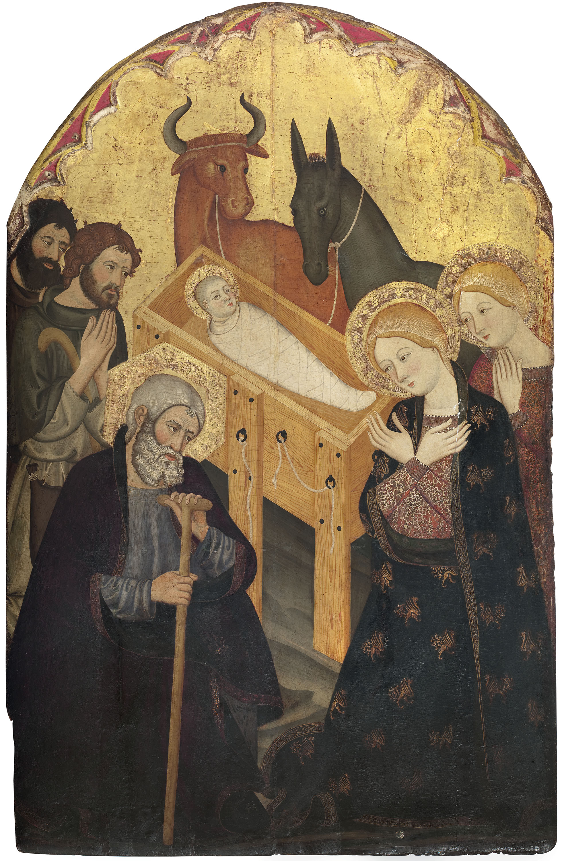 Taller dels germans Serra - Adoration of the Shepherds - Circa 1365-1375