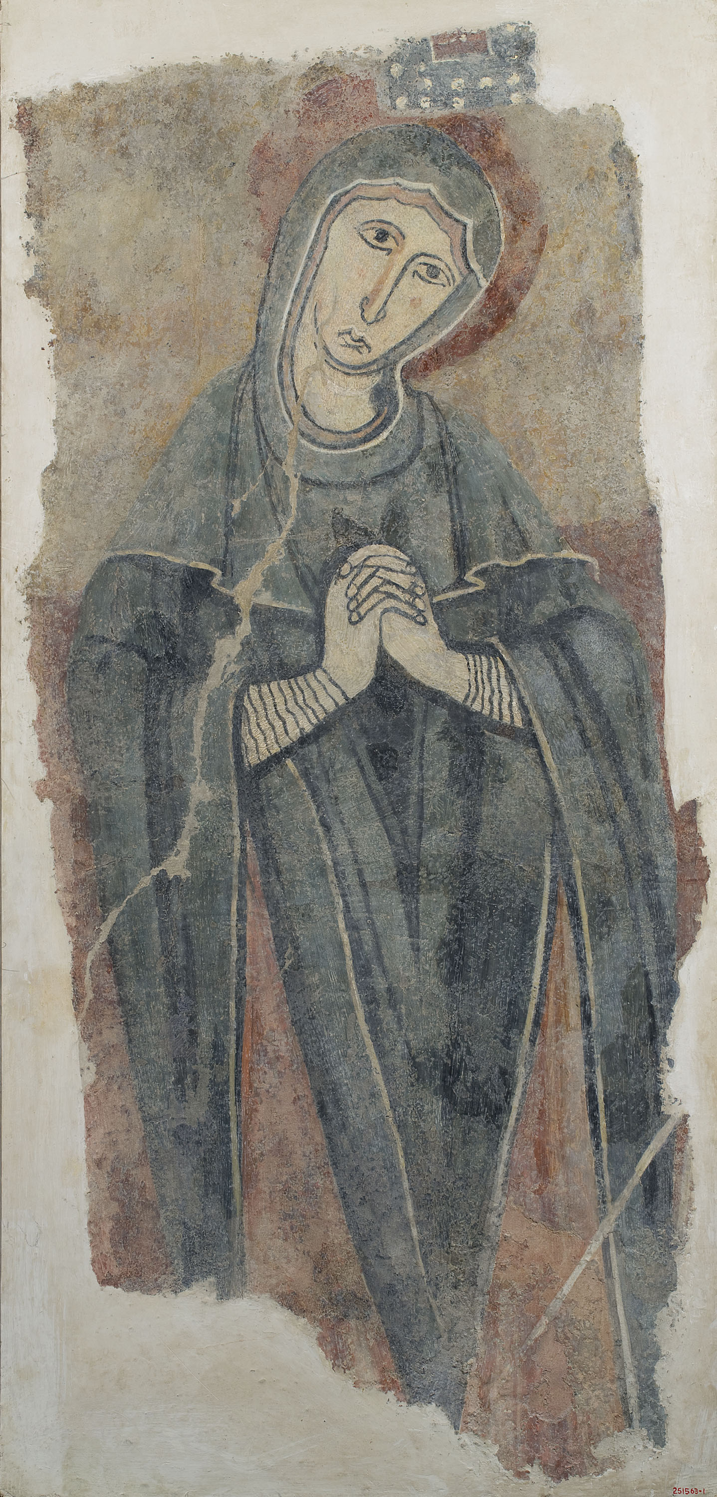 Anónimo. Cataluña - Virgin of the Crucifixion, from Estaon - Mid-12th century