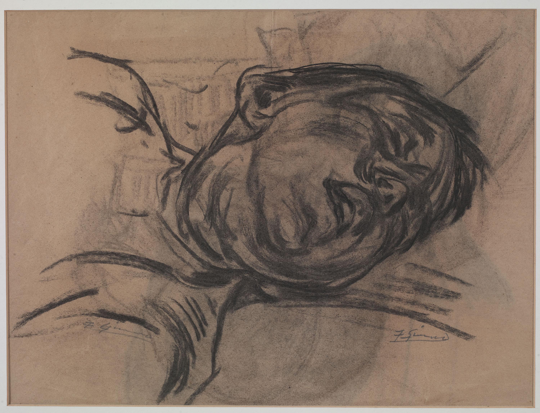 Francesc Gimeno - El son (anvers) / Nu femení (revers) - Cap a 1899-1900