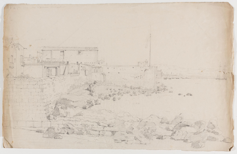Adolphe Hedwige Alphonse Delamare - Drassanes del port de Barcelona - Novembre de 1827