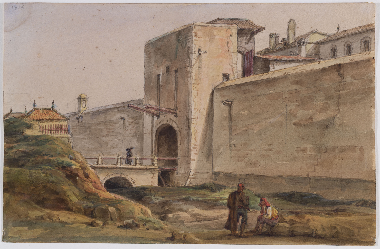 Adolphe Hedwige Alphonse Delamare - Portal de Santa Madrona - 1825