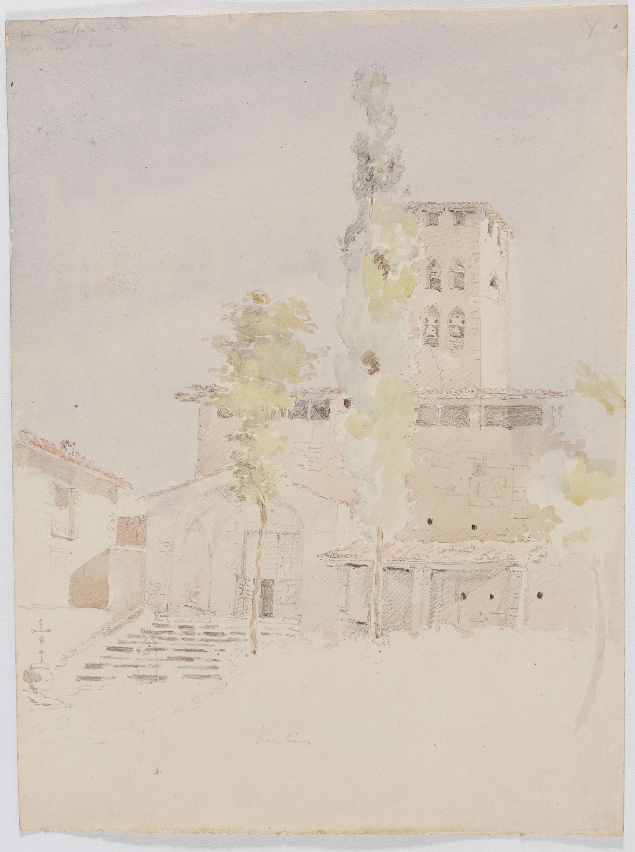 Adolphe Hedwige Alphonse Delamare - Església de Sant Pere de Ripoll - Dissabte 6 d'agost de 1825
