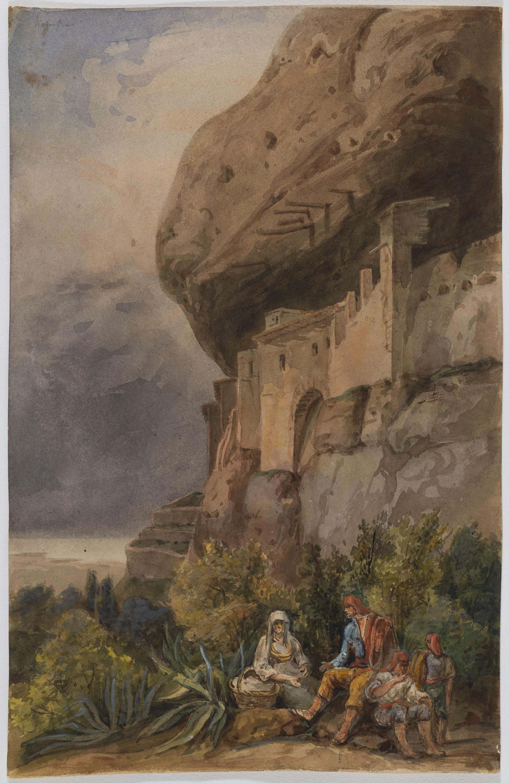 Adolphe Hedwige Alphonse Delamare - Ermita de Sant Onofre a Montserrat - Cap a setembre de 1826