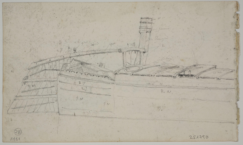 Adolphe Hedwige Alphonse Delamare - Boat - Circa 1827