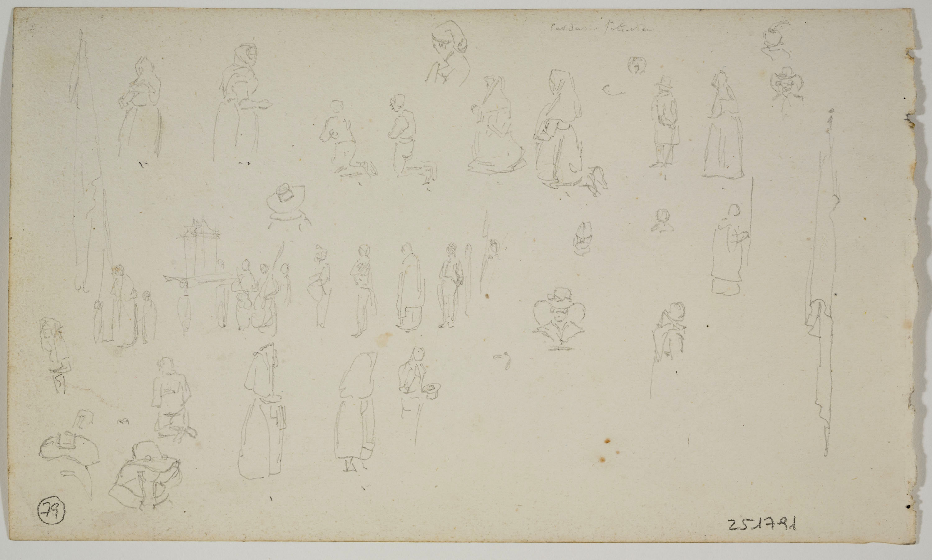 Adolphe Hedwige Alphonse Delamare - Figures Sketch - Circa 1827