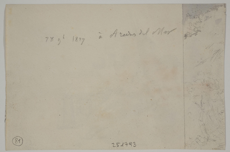 Adolphe Hedwige Alphonse Delamare - Landscape Sketch - November 28, 1827
