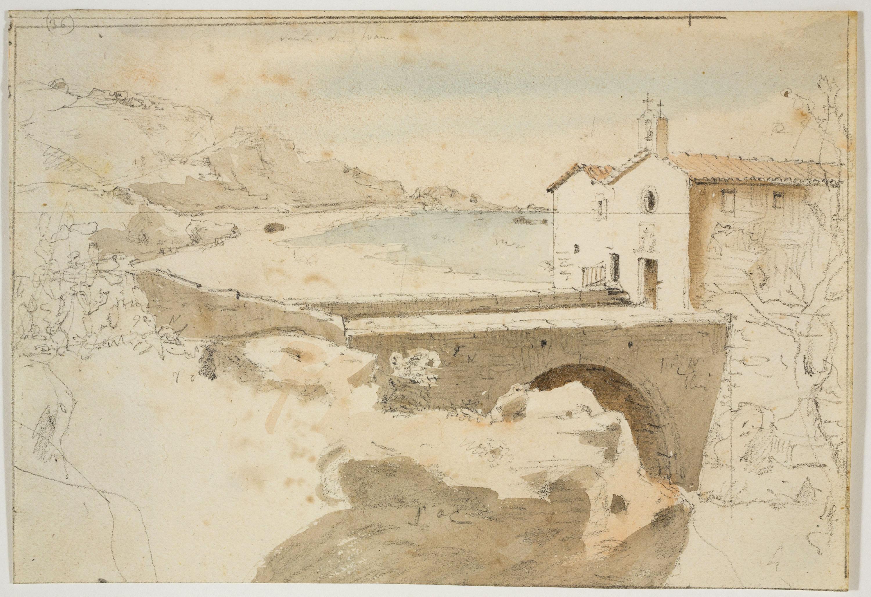 Adolphe Hedwige Alphonse Delamare - Ermita del Sant Crist del Calvari a Arenys de Mar - Cap a 1827