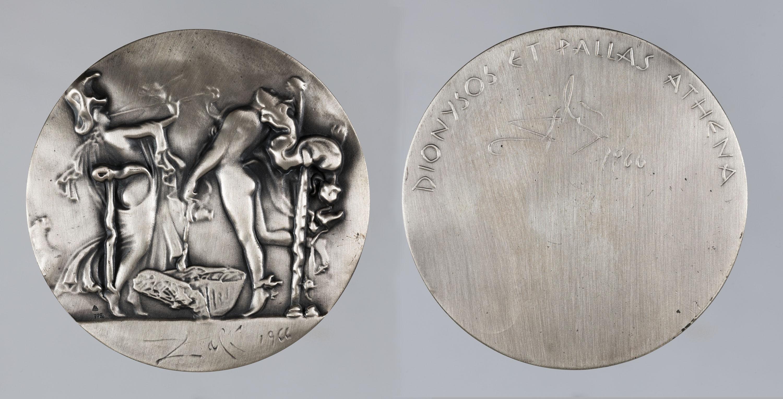 Salvador Dalí - Dionysos et Pallas Athena - 1966