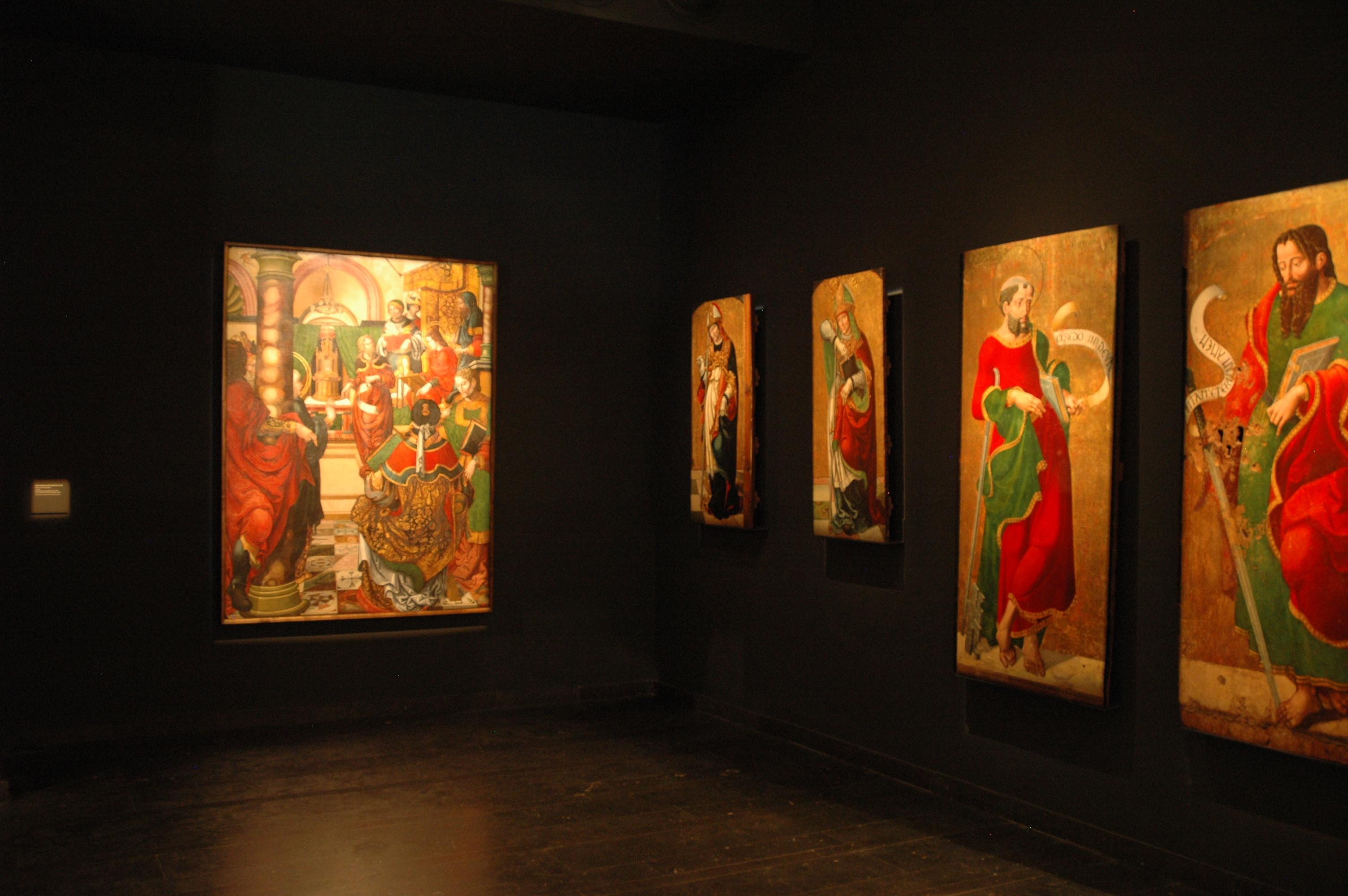 La taula actualment exposada al Museu de Lleida. Foto: Museu de Lleida