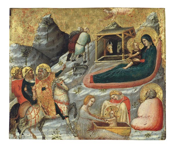 Pietro da Rimini - Nativitat i altres temes de la infantesa de Crist - Cap a 1330