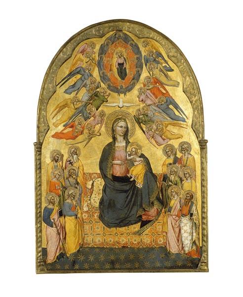 Cenni di Francesco di Ser Cenni - Mare de Déu de la Humilitat amb el Pare Etern, l'Esperit Sant i els dotze apòstols - 1375-1380