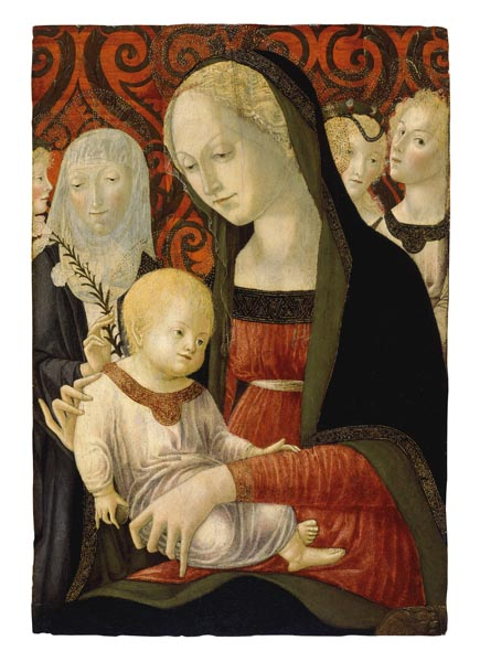 Francesco di Giorgio Martini - La Mare de Déu i el Nen amb santa Caterina i àngels - Cap a 1490