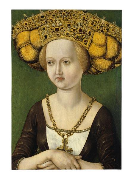 Anònim - Retrat de Kunigunda d'Àustria - Cap a 1485
