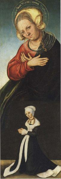 Lucas Cranach (el Vell) - Santa Anna amb la duquessa Bàrbara de Saxònia com a donant - Cap a 1514