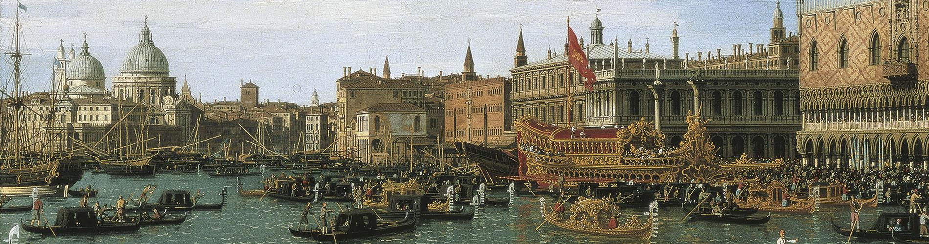 Giovanni Antonio Canal (Canaletto), Regreso de «Il Bucintoro» el día de la Ascensión, 1745-1750