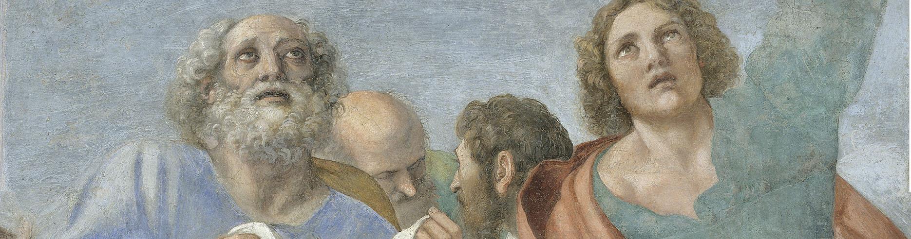 Annibale Carracci, Apóstoles alrededor del Sepulcro vacío, finales de 1604 – inicios de 1605