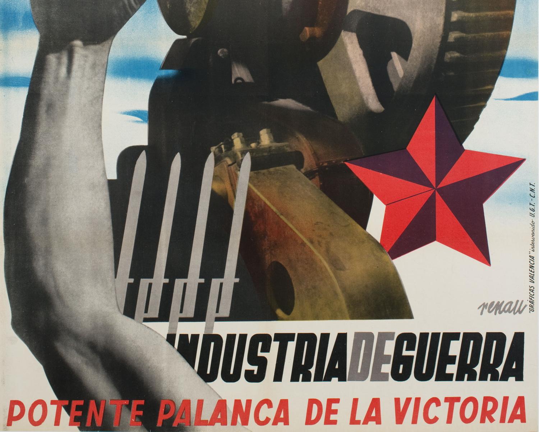 Guia temàtica de cartells de la guerra civil - Industria de guerra. Potente palanca de la victoria