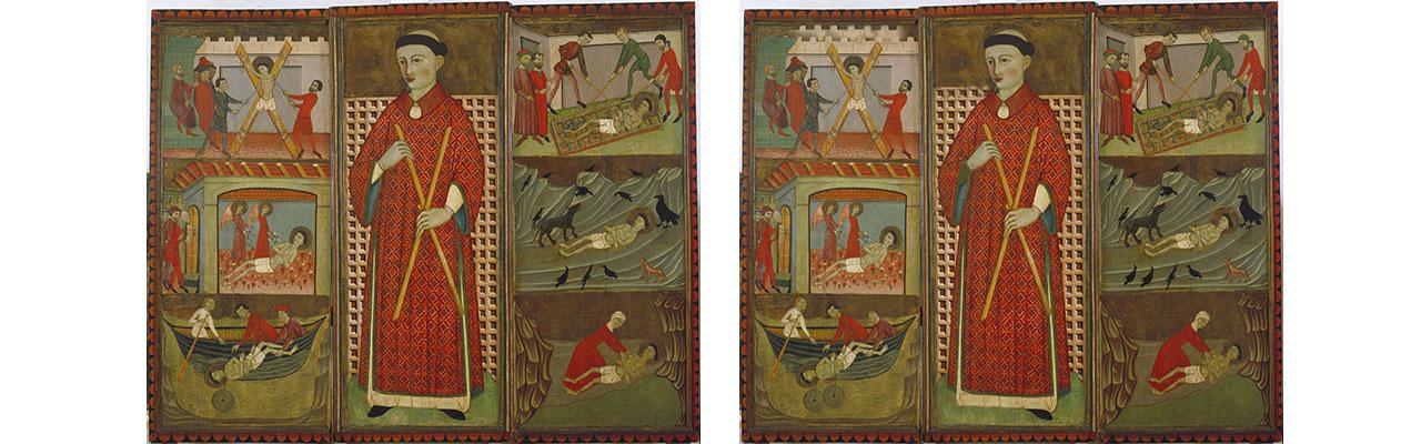 troba les 10 diferències -  Mestre d'Estamariu, Retaule de sant Vicenç