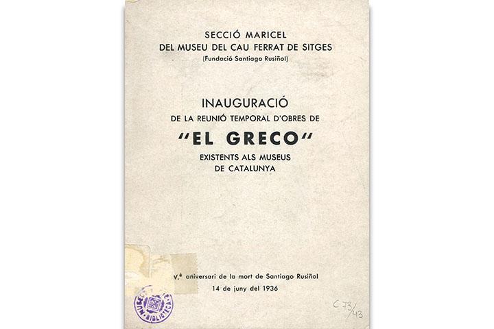 """Inauguració de la reunió temporal d'obres de """"El Greco"""" existents als museus de Catalunya"""