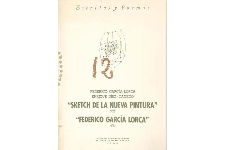 """""""Sketch de la nueva pintura"""": 1928 / """"Federico García Lorca"""": 1942"""