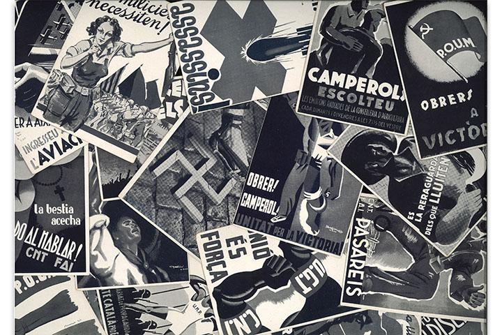 Col·lecció de targetes postals de cartells antifeixistes editades pel Comissariat de Propaganda