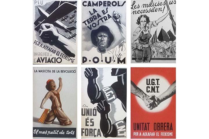 Col·lecció de targetes postals de cartells antifeixistes editades pel Comissariat de Propaganda. Barcelona: Comissariat de Propaganda de la Generalitat de Catalunya, [ca. 1936]