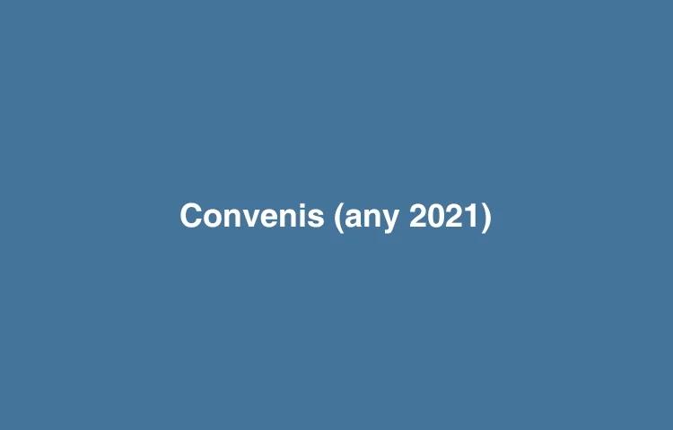 Convenis signats - any 2021