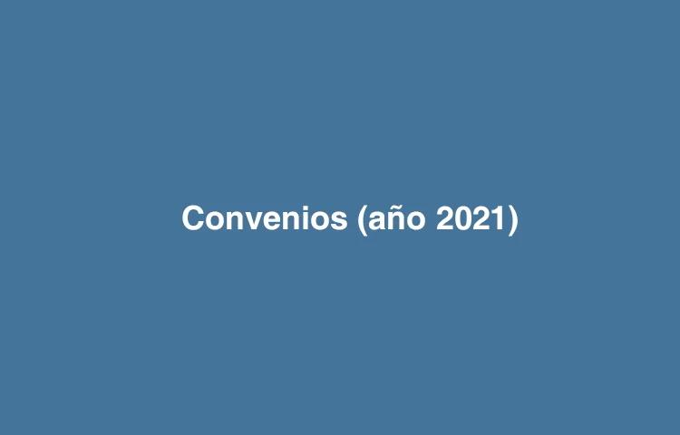 Convenios firmados - año 2021