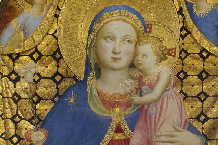 Giovanni da Fiesole (Fra Angelico), Virgin of Humility, 1433-1435