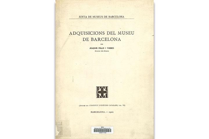 Adquisicions del Museu de Barcelona