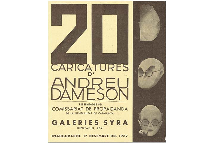 20 caricatures d'Andreu Dameson. Barcelona, Galeries Syra, 17 desembre de 1937