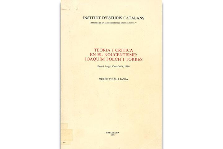 Teoria i crítica en el Noucentisme: Joaquim Folch i Torres