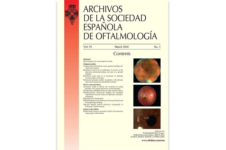 Archivos de la Sociedad Española de Oftalmología