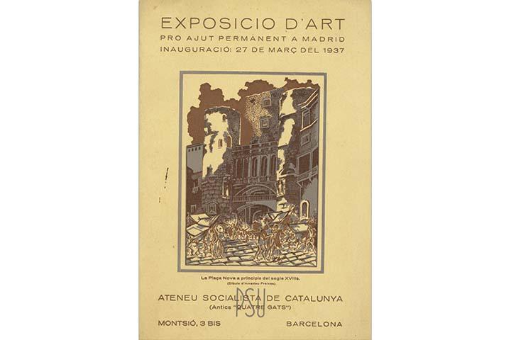 Exposició d'art pro ajut permanent a Madrid. Barcelona, Ateneu Socialista, 27 de març de 1937