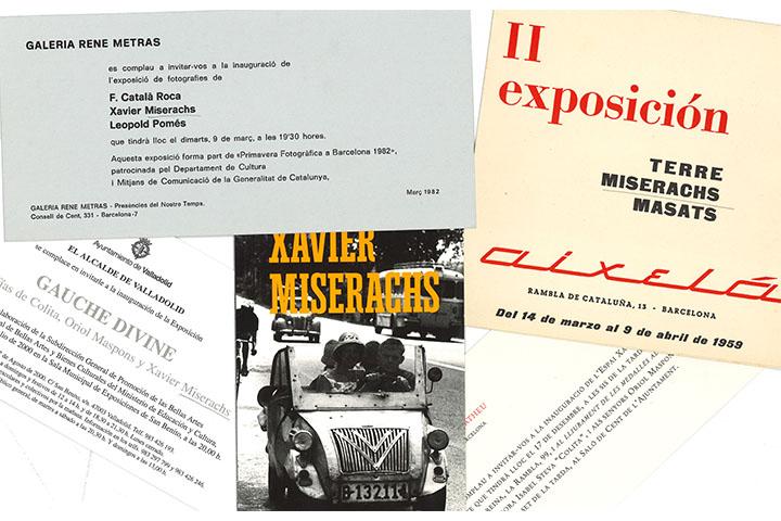Catàlegs d'exposicions individuals de Xavier Miserachs Ribalta
