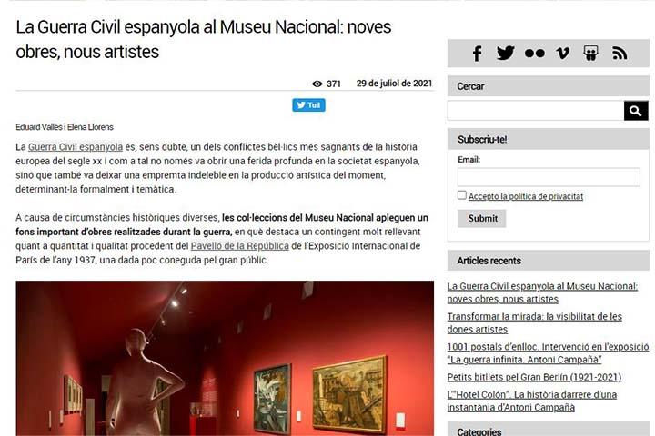 La Guerra Civil espanyola al Museu Nacional: noves obres, nous artistes