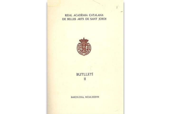 Butlletí de la Reial Acadèmia Catalana de Belles Arts de Sant Jordi