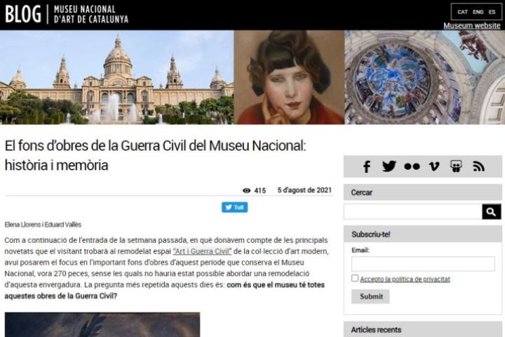 El fons d'obres de la Guerra Civil del Museu Nacional: història i memòria
