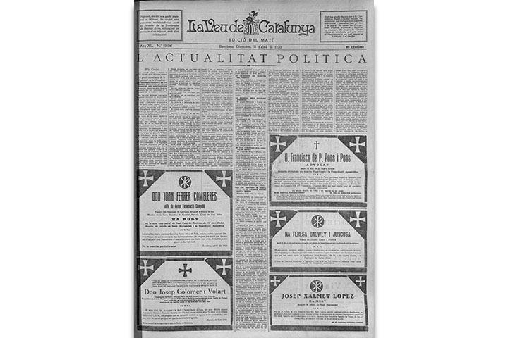 La Veu de Catalunya. Pàgina artística