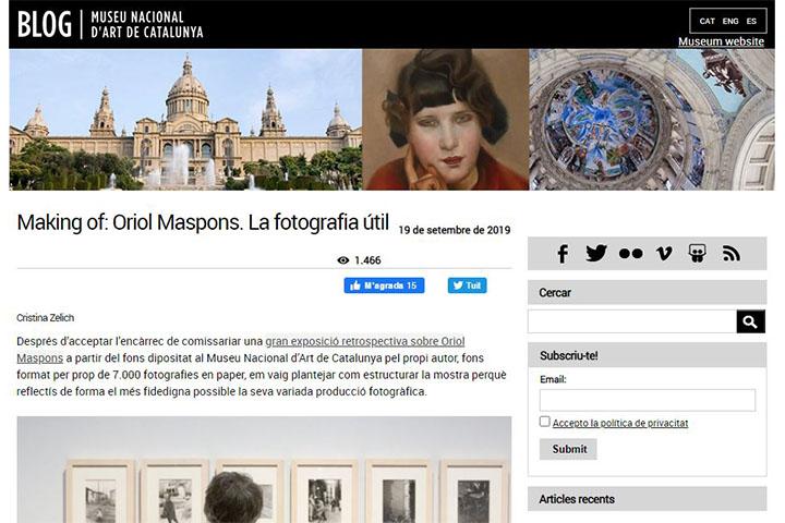 Making of. Oriol Maspons. La fotografia útil