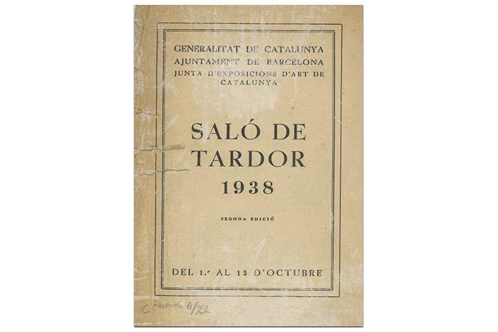 Saló de tardor 1938. Barcelona: Junta d'Exposicions d'Art de Catalunya, 1938