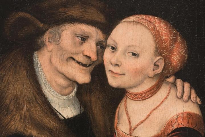 Parella amorosa desigual, Lucas Cranach (el Vell), 1517