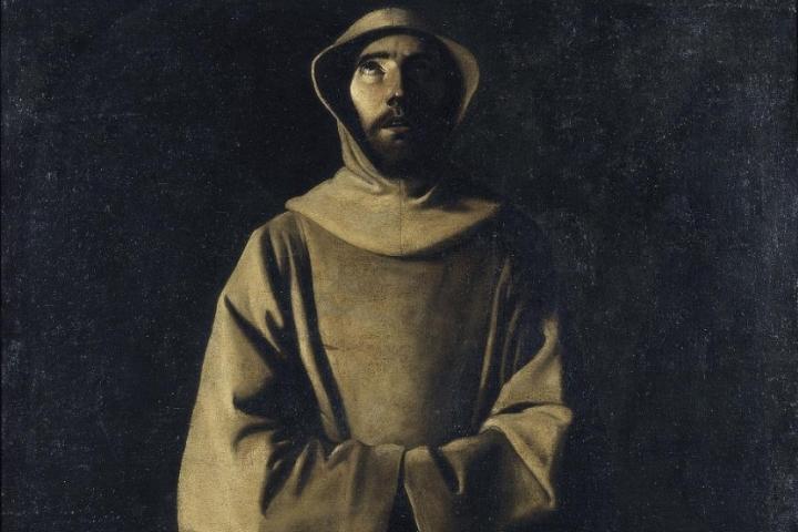 Sant Francesc d'Assís segons la visió del papa Nicolau V, Francisco de Zurbarán, cap a 1640