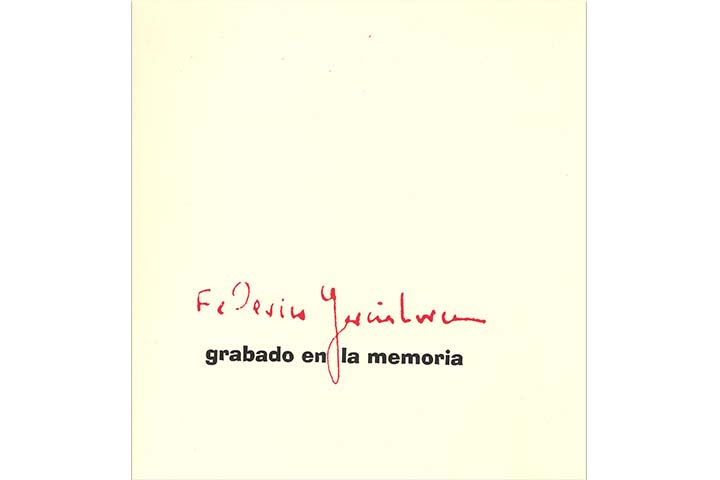 Federico García Lorca: grabado en la memoria