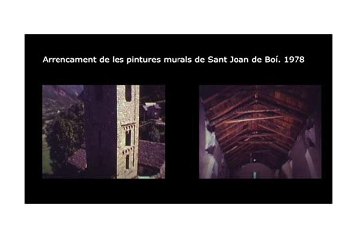 Arrencament pintures Sant Joan de Boí